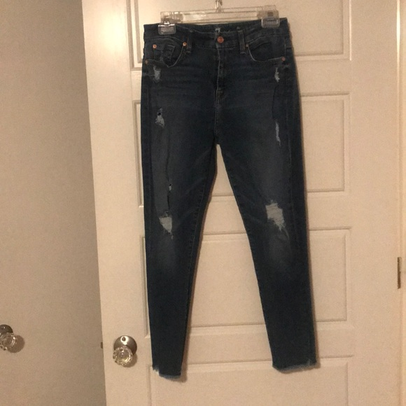 7 For All Mankind Denim - 7 for All Mankind High Waist Ankle Skinny Jean